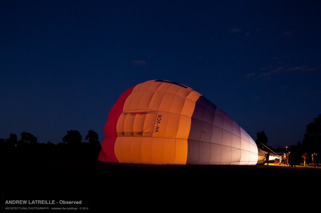 Hot air creating form, light and shade defining it.